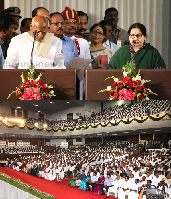 Ms.Jayalalithaa sworn TamilNadu CM